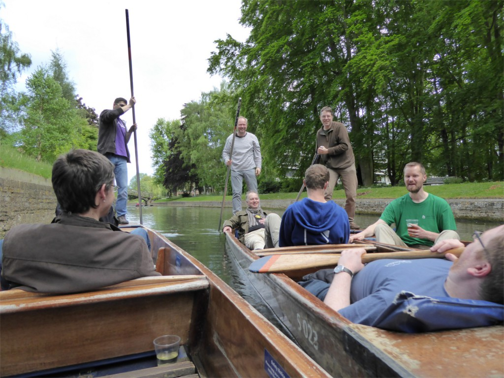 Team LibreOffice punting on the river Cam