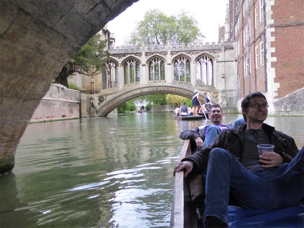 Caolán McNamara and Jan Holesovsky punting on the river Cam