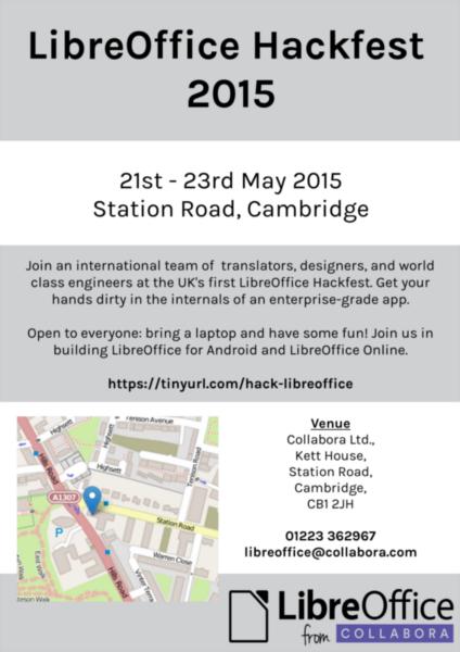 Poster advertising the Cambridge Hackfest