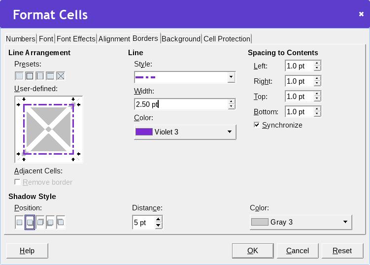 Calc format cells dialog