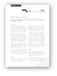 Screenshot of the first page of success story named How ownCloud and Collabora increased poductivity in the Dutch university and research landscape