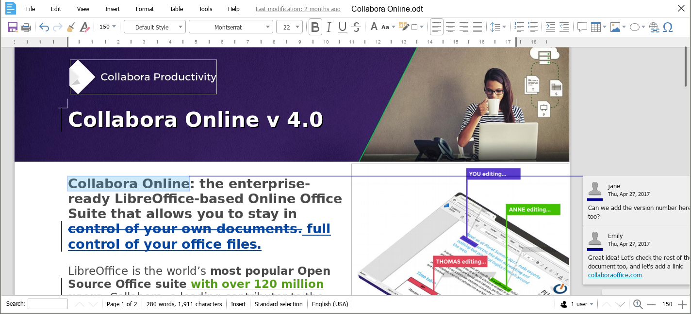 Collabora Office Development Edition RC1 screenshot