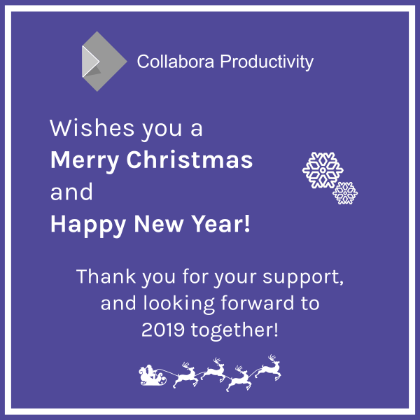 Happy Christmas and New Year to our partners