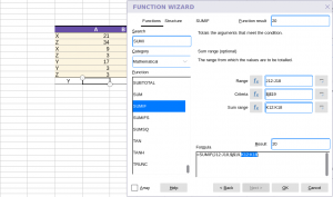 Collabora Online Function Wizard - argumentts