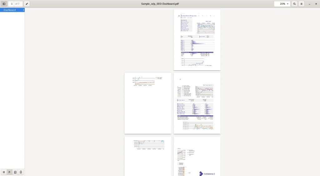 Usual PDF Output
