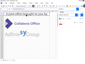 Collabora Office on iOS for editing spreadsheets.