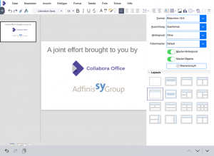 Creating presentations in Collabora Office iOS