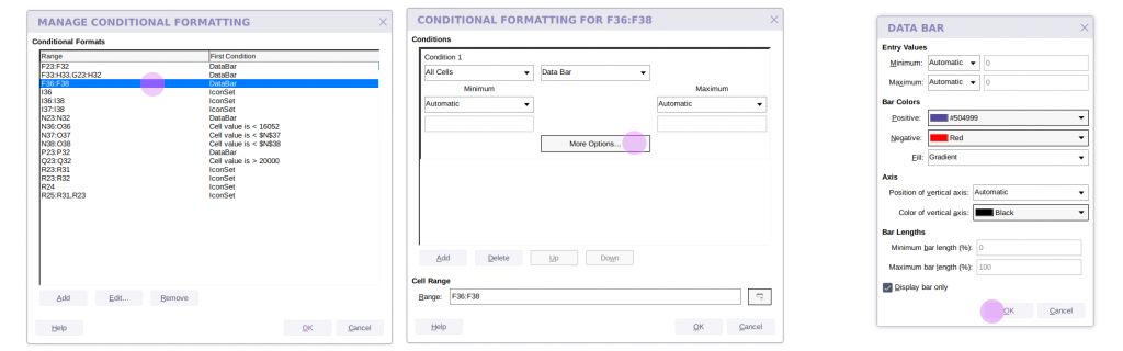 Collabora Online conditional formatting