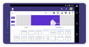 Lay out of presentation in Collabora Office for iOS and Android
