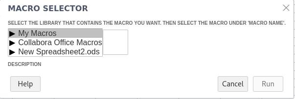 Collabora Online Macro Selector Dialog