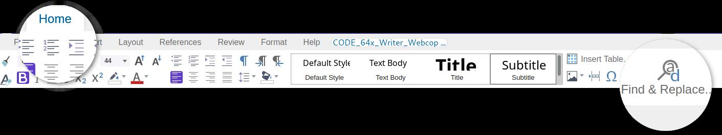 Find & replace un code 6.4.10